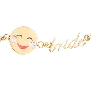 kate spade Happy Face Bride Emoji bracelet